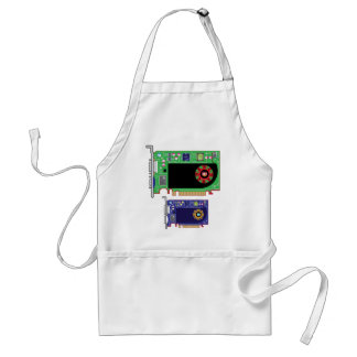 Video Card Vector Adult Apron
