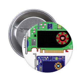 Video Card Vector Button