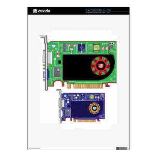 Video Card Vector Decal For iPad 2