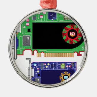 Video Card Vector Metal Ornament