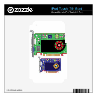 Video Card Vector Skin For iPod Touch 4G