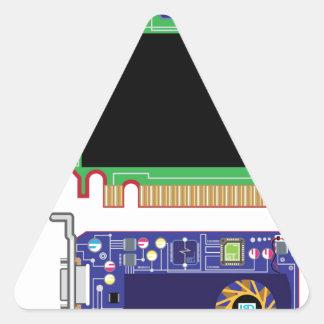 Video Card Vector Triangle Sticker