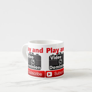 Video Dominion YouTube channel Play and Subscribe Espresso Cup