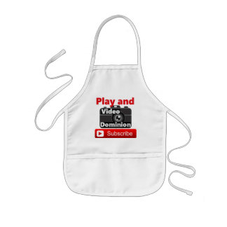 Video Dominion YouTube channel Play and Subscribe Kids' Apron