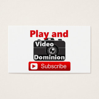 Video Dominion YouTube Subscribe and Play Business Card