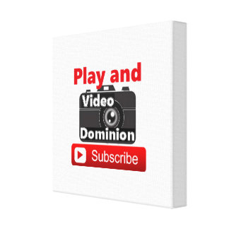 Video Dominion YouTube Subscribe and Play Canvas Print