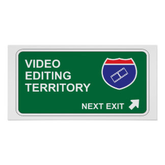 Video Editing Next Exit Poster