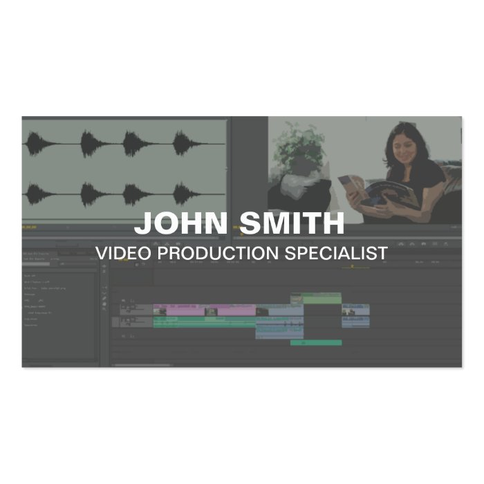 video editor business cards