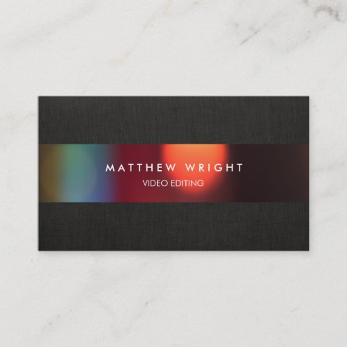 Video Editor Cinematography Film Business Card