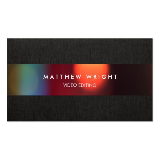 Video Editor Cinematography Film Business Cards : Zazzle