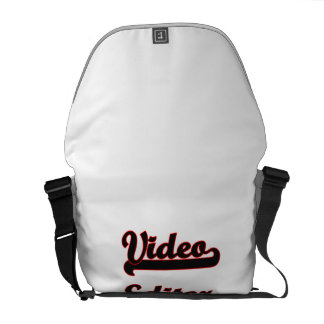 Video Editor Classic Job Design Courier Bags