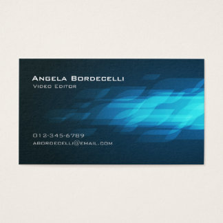 Video Editor Film Imaging Media Cool Chic Business Card