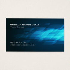 Video Editor Film Imaging Media Cool Chic Business Card at Zazzle