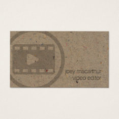 Video Editor Vide Clip Icon Film Photography Business Card at Zazzle
