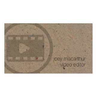 Video Editor Vide Clip Icon Film Photography Double-Sided Standard Business Cards (Pack Of 100)