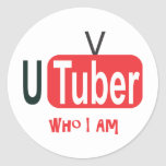 Vídeo en línea que soy pegatina redonda