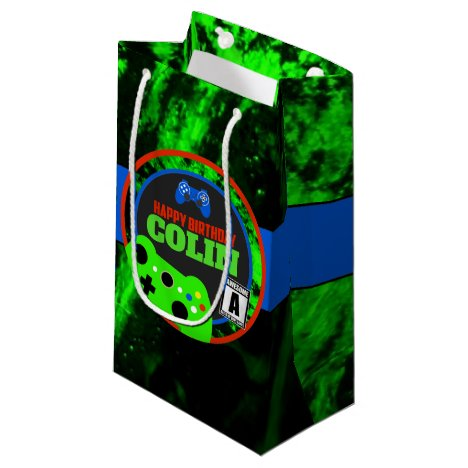 Video Game Birthday Gift Bag Personalized
