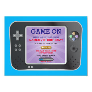 Video Game Birthday Party Gamer On Console Invite