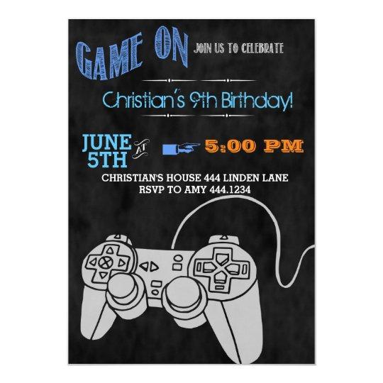 Video game birthday party invitations zazzle video game birthday party invitations filmwisefo