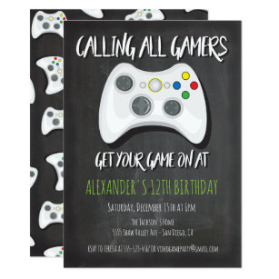 Video game party invitations zazzle video game birthday party invitations stopboris Choice Image