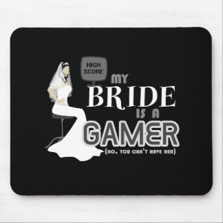 Video Game Bride & Wedding Mouse Pad