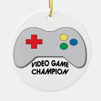 Video Game Champion Ceramic Ornament