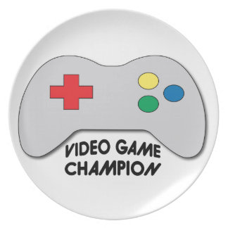 Video Game Champion Dinner Plate