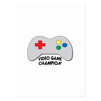 Video Game Champion Postcard