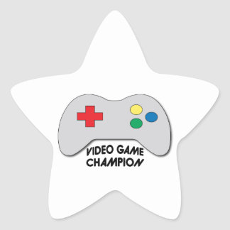 Video Game Champion Star Stickers