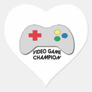 Video Game Champion Heart Sticker