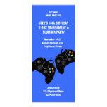 Video Game Controller Birthday Invitation 9 x 4
