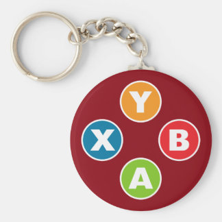 Video Game Controller Gaming Keychain Red