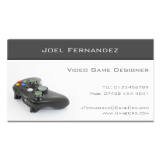 Video Game Designer - Business Card