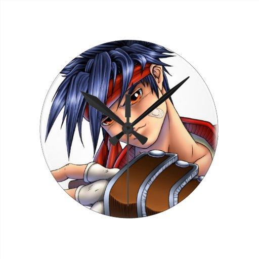 Video Game Fan Art Round Clock Zazzle