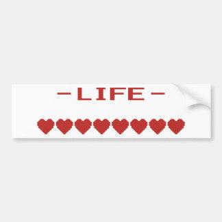 Video Game Heart Life Meter Car Bumper Sticker