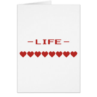 Video Game Heart Life Meter Card