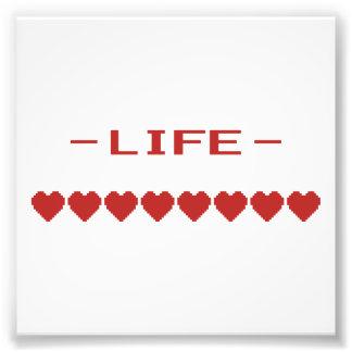 Video Game Heart Life Meter Photo Print