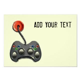 """VIDEO GAME INVITATIONS 5"""" X 7"""" INVITATION CARD"""