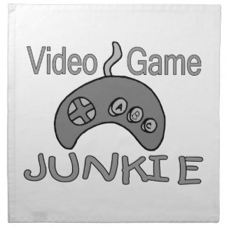 Video Game Junkie Cloth Napkin