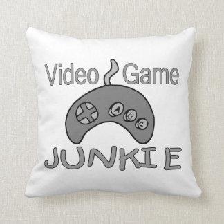 Video Game Junkie Throw Pillows