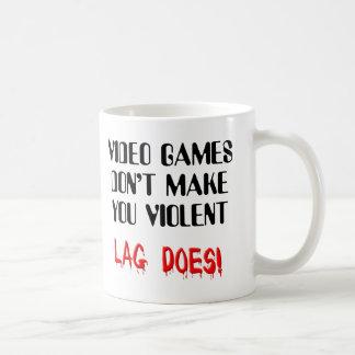 Video Game Lag Violence Funny Mug