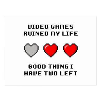 Video Game Life Postcard