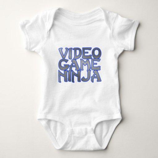 VIDEO GAME NINJA (blue) Tshirts