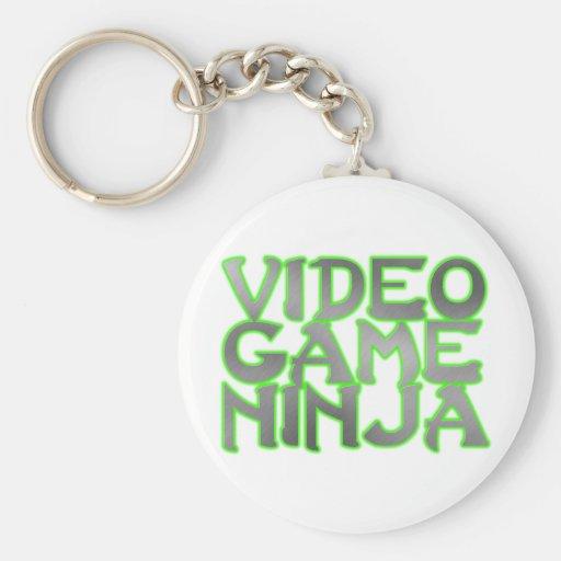 VIDEO GAME NINJA (green) Key Chain