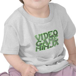 VIDEO GAME NINJA (green) Tee Shirts