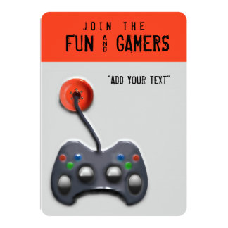 video game party card - Video Game Party Invitations