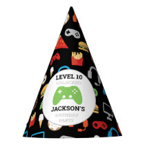 Video Game Party Level Up Kids Birthday Gamer Party Hat