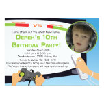 """Video Game Party - Personalized Invitations 5"""" X 7"""" Invitation Card"""
