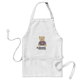 Video Game Player Bear. Adult Apron