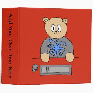 Video Game Player Bear. Binders